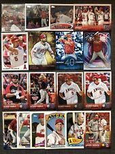 Albert Pujols 18 Different Angels Cardinals Card Lot w/ Inserts 2012-2018