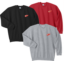 Detroit Red Wings Crew Sweat Shirts Embroidered