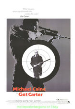 GET CARTER MOVIE POSTER 27x40 Near Mint Rolled  REPRINT 1971 MICHAEL CAINE