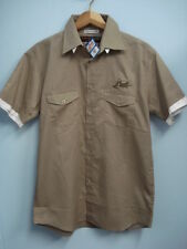 24 Le Mans Monogrammed Khaki Color Urban Shirt with Layered Sleeve- Euro size S
