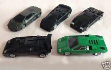 Lot of 5 Lamborghini 1:50 Diecast Cars Reventon Diablo Countach LP500S LP400 UCC