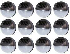12 Solar Powered LED Garden Fence Lights Wall Patio Decking Outdoor Lighting