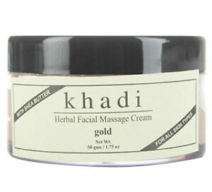Khadi Gold Herbal Facial Massage Cream with Shea Butter 50 gm Free Shipment