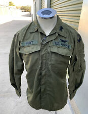 1971 US Army Vietnam Flyer's Hot Weather Fire Resistant Shirt Trousers Med Short
