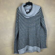 Banana Republic Heritage Gray Green Striped Wool Angora Mohair  Sweater
