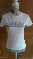 Ladies White Reebok Cotton/Elastane Mix T-shirt with Embellishment size 12