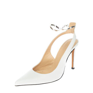RRP€325 IRO Leather Slingback Court Shoes EU 38 UK 5 US 7 Chain Made in Portugal