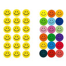 Smiley Sticker in Gelb oder Bunt Aufkleber Lächeln Smily Face Stückzahl wählbar