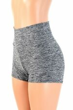 LARGE High Waist Gray/Black Soft Knit Rave Festival Party Shorts Ready To Ship!