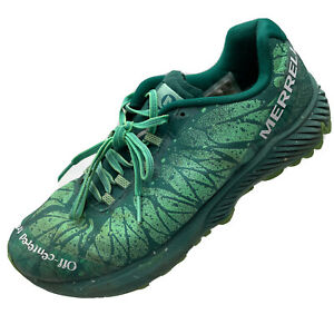 #29 Merrell Women US9 Agility Synthesis Dogfish Head Running Shoes Green J98412