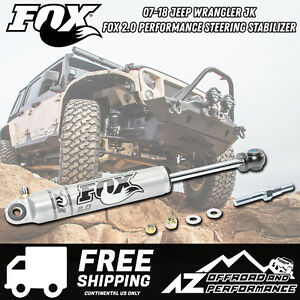 Fox 2.0 Performance Series IFP Steering Stabilizer fits 07-18 Jeep Wrangler JK
