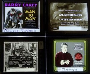 Four Early Glass Movie Slides - All Westerns (Part 2)