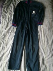 NEW HOLLAND tractor overalls age 10 kids farm work wear boiler suit blue red