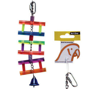 Avi One Hanging Ladder With Bell Swing Fun Budgie Finch Canary Conure Toy