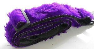 "Purple Adjustable Electric Guitar Strap Fluffy Faux Furry Fun Fur UKMade 2"" Wide"