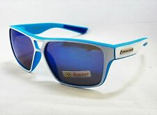 BioHazard Optics Sunglasses BLUE & WHITE & Blue Mirror Tint Lens Unisex Mens New