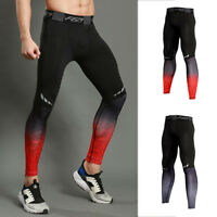 Mens Compression Leggings Exercises Under Base Layers Tight fit Pants Quick-dry