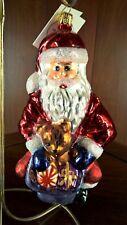 Radko heirloom vintageThis Bear's For YouSantaChristmas ornament
