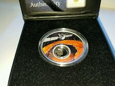 2017 Solar System Mission to Mars 1oz Silver Proof Coin with Real Meteorite, COA