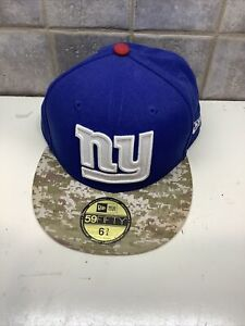 NWT New York Giants New Era NFL 59Fifty 6 3/4 Youth Blue Hat Cap -2013 Army