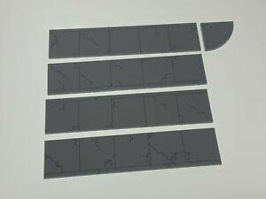 O Scale Sidewalks Side Walk Kit Single width realistic aged weathered Laser Cut