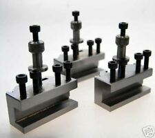 3 SPARE QUICK CHANGE TOOLPOST HOLDERS COMPATIBLE WITH MYFORD LATHE