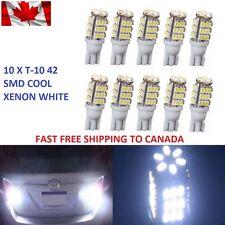 10 X Xenon White T10/921/194 42SMD Car LED Bulbs W5W RV Trailer Backup Reverse