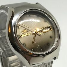 VINTAGE ORIENT ALL ORIGINAL M 21J AUTO. DayDate 38mm silvery gold sunburst dial