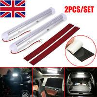 2Pcs/set 12V 72 LED Interior Lights Strip Bar Car Van Bus Caravan ON/OFF Switch