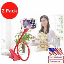 2Flexible Lazy Bracket Mobile Phone Stand Holder Car Bed Desk For iPhone Samsung