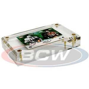 "1 Case 50x BCW 1"" 4-Screw ACRYLIC CARD HOLDER Sport card Protector - Bevel"