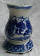 Vintage Victoria ware Ironstone Flow Blue hat pin holder PERFECT!