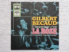 """Vinyl-7""""-Cover # only Cover # Gilbert Bécaud # L´important c´est La # 1967 # vg+"""