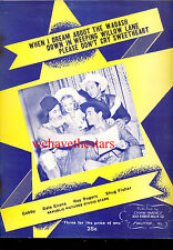 "ROY ROGERS DALE EVANS Sheet Music ""Down In Weeping Willow Lane"" PLUS 2 others"