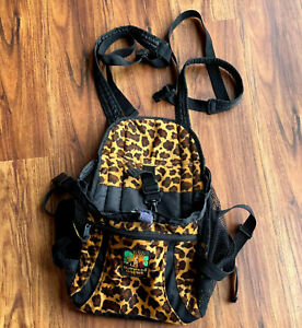 Outward Hound Small Dog Front - Back Backpack Carrier Leopard Animal Print