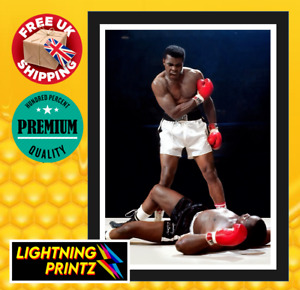 Mohammed Ali Boxer Vintage Classic Art Boxing Poster A4, A3, A2, A1, A0