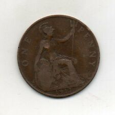 GREAT BRITAIN One Penny 1917