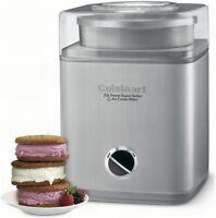Cuisinart Frozen Yogurt Sorbet & Ice Cream Maker Pure Indulgence 2 Qt