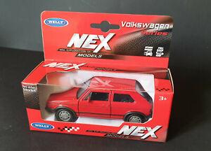 voiture miniature 1/34-1/39 welly nex models vw golf 1 gti Welly