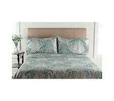 Elite Home Products Crystal Palace 300-Thread Count Print Sheet Full, Aqua