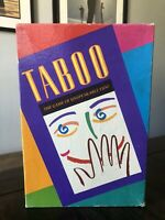 Vintage 1989 Taboo The Game of Unspeakable fun Board Game Complete