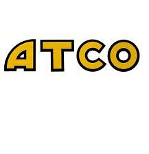 ATCO Vintage Mower Petrol Tank Repro Decal