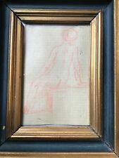 """DANTE  DE CAROLIS  (1890 -1975 ) pittore Bolognese  disegno """" NUDO di DONNA """""""
