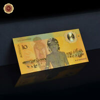 WR 1988 Australian $10 Note Bicentenary 24K Gold Plated Banknote Rare Collection