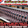 Bulk Custom Printed Vinyl Stickers Decals Labels and cut to shape