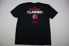 adidas Portland Trail Blazers - Black Cotton Short Sleeve Shirt (2XLT) - Used