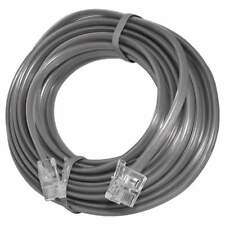 15 FT Feet RJ11 4C Modular Telephone Extension Phone Cord Cable Line Wire Gray
