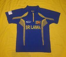 New listing Kant Sports Wear Sri Lanka Cricket Polo Jersey Shirt 1/4 Zip Blue/Yellow Mens XL