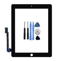 For iPad 3 4 Black Front Touch Screen Digitizer Glass Display wifi 3G + Tools
