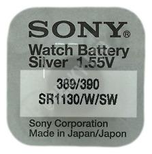 Genuine SONY 390 SR1130SW Silver Oxide Watch Battery 1.55v [1-Pack]